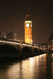 Big Ben London. Night view of House of Parliament and Big Ben in London royalty free stock images