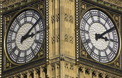 Big Ben, London. Close view of the clock dial Stock Photo