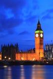 Big Ben London. Big Ben and River Thames  International Landmark of London England United Kindom at Dusk Stock Photo