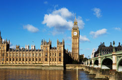 Big ben london. London'd big ben by westmister bridge Royalty Free Stock Images