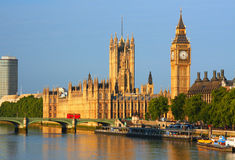 Big Ben in London. Big Ben and Westminster Palace in London Stock Images