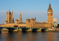 Big Ben in London. Big Ben and Westminster Palace in London Royalty Free Stock Photo
