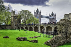 Big Ben, London-Brücke England Lizenzfreie Stockfotografie