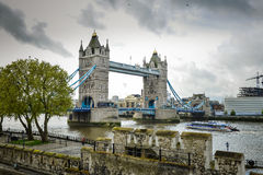 Big Ben, London Bridge England Royalty Free Stock Images