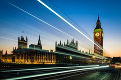 Big Ben and London Bus Royalty Free Stock Images