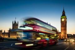 Big Ben and London Bus Stock Photos