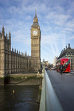 Big Ben and London Bus Stock Photography