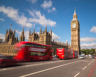 Big Ben and London Buses Royalty Free Stock Photography