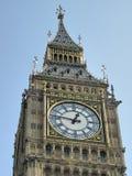 Big Ben, London. The clock face of the famous London landmark, Big Ben Stock Image