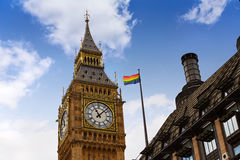 Big Ben London Clock tower in UK Thames. Big Ben London Clock tower close up in UK Thames river Royalty Free Stock Photo