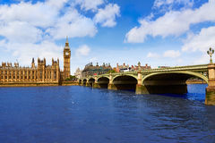 Big Ben London Clock tower in UK Thames Royalty Free Stock Photography