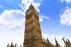 Big Ben London Clock tower in UK Thames. River Stock Photos