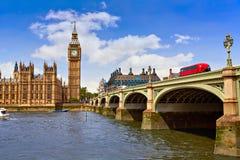 Big Ben London Clock tower in UK Thames. River Stock Photo
