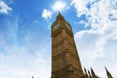 Big Ben London Clock tower in UK Thames. River Royalty Free Stock Images