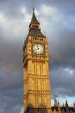 Big Ben in London with clouds background Royalty Free Stock Images