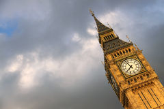 Big Ben in London with clouds background Royalty Free Stock Photo
