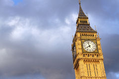 Big Ben in London with clouds background Stock Image