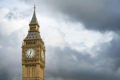 Big Ben London. Dramatic cloudy sky background Stock Photos