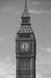 Big Ben London England. Big Ben clock in London England. Black & white Stock Images