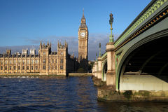 Big Ben in London, England. Big Ben with sunny day in London, England Royalty Free Stock Image