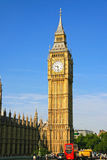 The big ben. In london England against blue sky Royalty Free Stock Images
