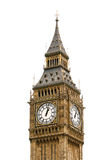 Big Ben in London, England, isolated on white back Stock Photos