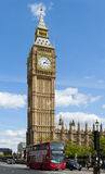Big Ben. LONDON, ENGLAND - MAY 30: Big Ben, the Elizabeth Tower at the north end of the Palace of Westminster on May 30, 2015 in London Stock Photo