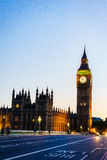 Big Ben, London, England, the UK. Royalty Free Stock Photography