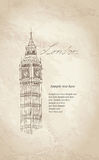Big Ben, London, England, UK. Travel Europe old-fashioned background. Stock Images