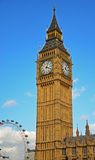 Big Ben and London Eye Royalty Free Stock Photos