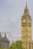 Big Ben and the London Eye Stock Photos