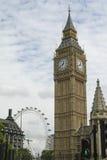 Big Ben with London Eye Stock Photos