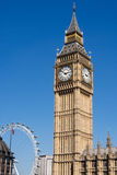Big Ben and London Eye Stock Images