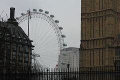 Big Ben and London Eye in London 2012 Royalty Free Stock Photography