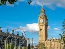 Big Ben and London Eye Royalty Free Stock Photos