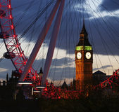 Big Ben through the London Eye Stock Images