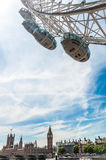 Big Ben and London Eye Royalty Free Stock Images