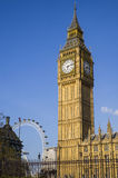 Big Ben and the London Eye Stock Images