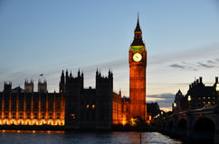 Big Ben in London. Big Ben and Houses of parliament in London Stock Photography