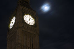 Big Ben in London after midnight Stock Image
