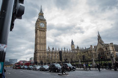 Big Ben, London. Big Ben is the nickname for the Great Bell of the clock at the north end of the Palace of Westminster in London and is usually extended to refer royalty free stock photos