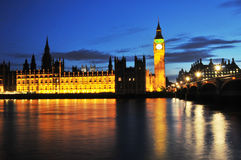 Big ben and london at night Royalty Free Stock Photo