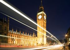 Big Ben in London at night. Royalty Free Stock Image