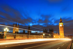 Big Ben London at night Royalty Free Stock Photos