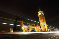 Big Ben London at night Stock Photography