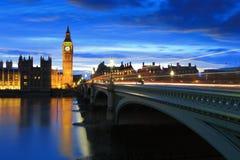 Big Ben London at night Stock Image