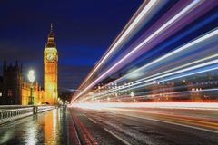 Big Ben London at night Royalty Free Stock Photo