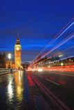 Big Ben London at night Stock Photos