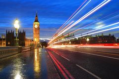 Big Ben London at night Stock Images