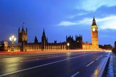 Big Ben London at night Royalty Free Stock Photo
